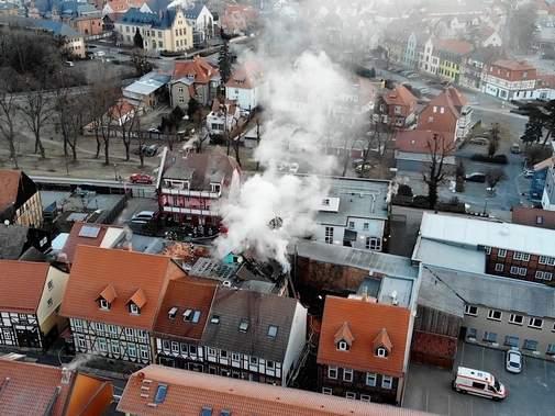 Hotelbrand Wernigerode | Quelle: volksstimme.de Foto: Matthias Strauß